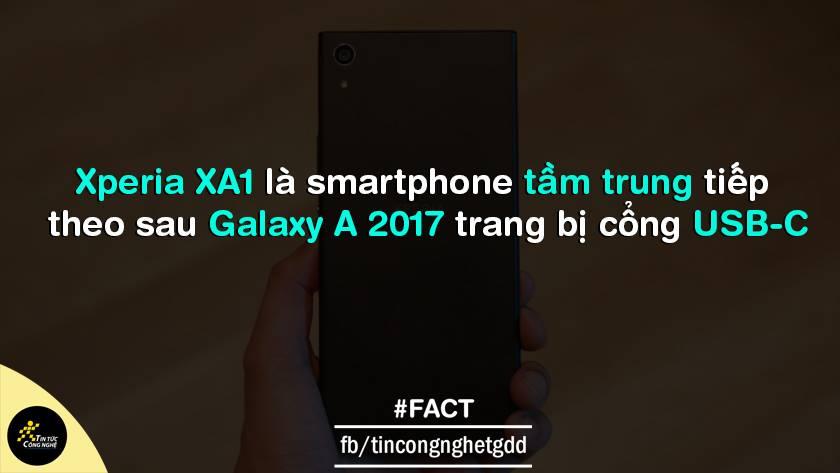 Xperia XA1 là thế hệ smartphone tầm trung thứ 2 được trang bị cổng USB-C