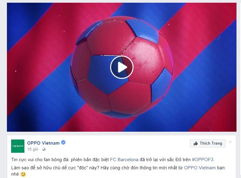 OPPO tung video giới thiệu chuyên gia selfie F3 phiên bản đặc biệt FC Barcelona