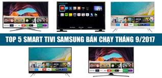 Top 5 Smart tivi Samsung bán chạy tháng 9/2017