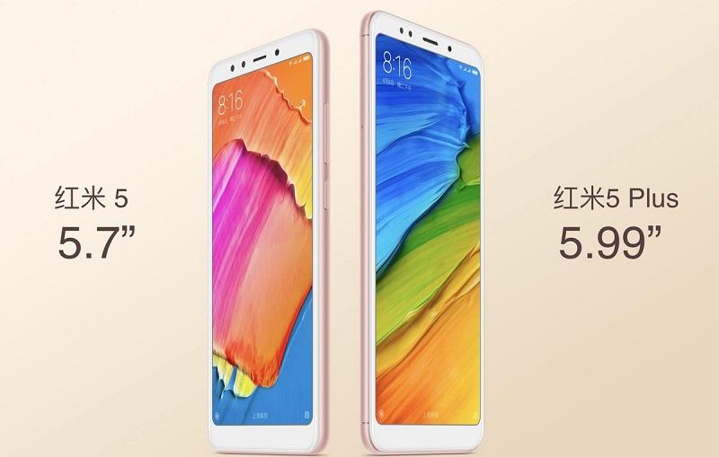 Redmi 5 & 5 Plus màn hình 18:9, giá từ 2.7 triệu trình làng