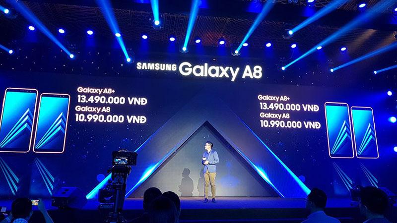 Giá bán Galaxy A8 và A8+ (2018)