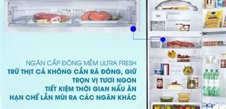 Ngăn cấp đông mềm ULTRA FRESH -3 độ C trên tủ lạnh Toshiba có gì đặc biệt?