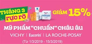 Giảm 15% mỹ phẩm 'Chuẩn' Châu âu tại nhà thuốc An Khang