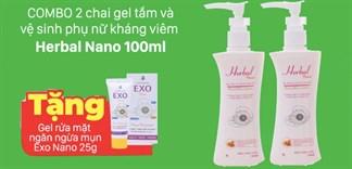 Mua gel tắm và vệ sinh phụ nữ Herbal tặng gel rửa mặt chỉ 130.000đ