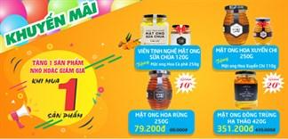 Giảm giá tới 20% hoặc tặng quà hấp dẫn khi mua các sản phẩm Honey Land