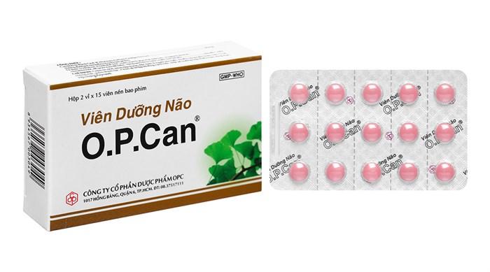 Thuốc tăng cường tuần hoàn não O.P.Can 30 viên