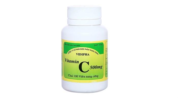 Thuốc vitamin C 500mg Vidipha chai 100 viên