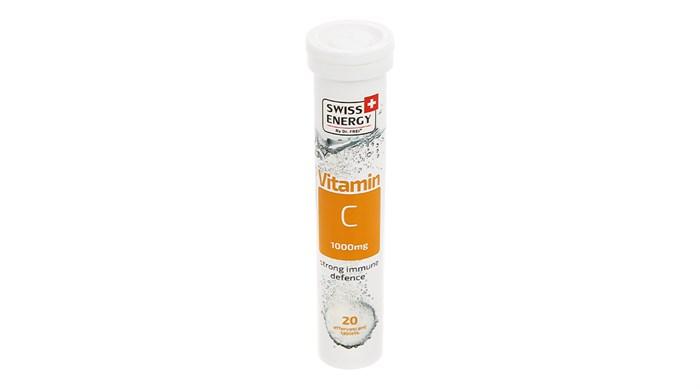 Viên sủi Swiss Energy vitamin C 1000mg tuýp 20 viên