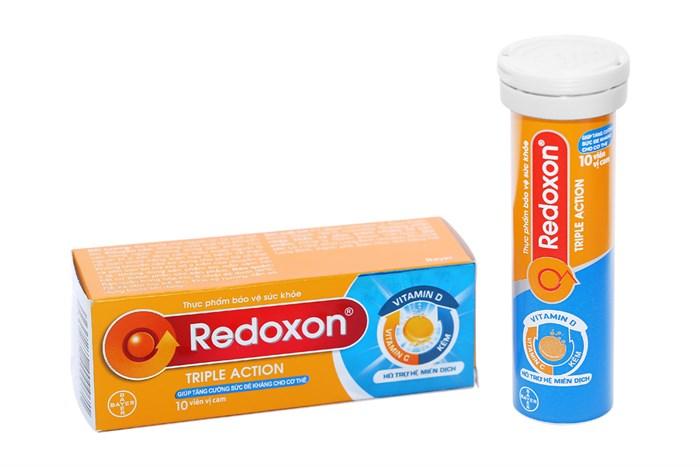 Viên sủi tăng sức đề kháng Redoxon Triple Action tuýp 10 viên