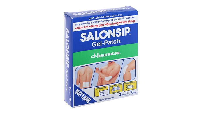 Cao dán giảm đau Salonsip Gel Patch 2 miếng