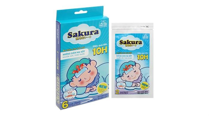 Miếng dán hạ sốt cho trẻ em Sakura hộp 3 gói