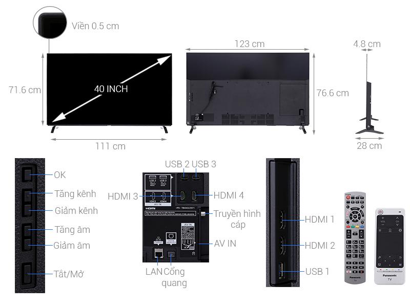 Thông số kỹ thuật Smart Tivi OLED Panasonic 55 inch TH-55EZ950V