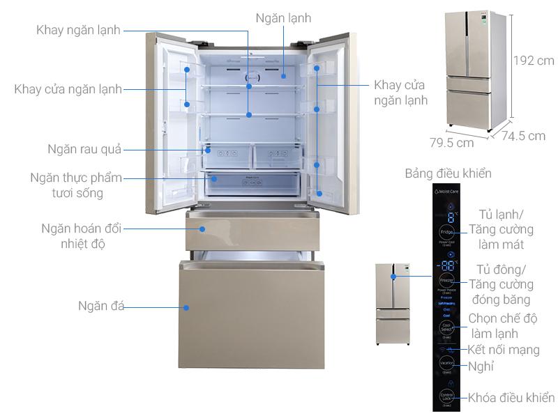 Thông số kỹ thuật Tủ lạnh Samsung 538 lít RF50K5821FG/SV