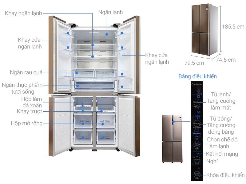 Thông số kỹ thuật Tủ lạnh Samsung 518 lít RF50K5961DP/SV