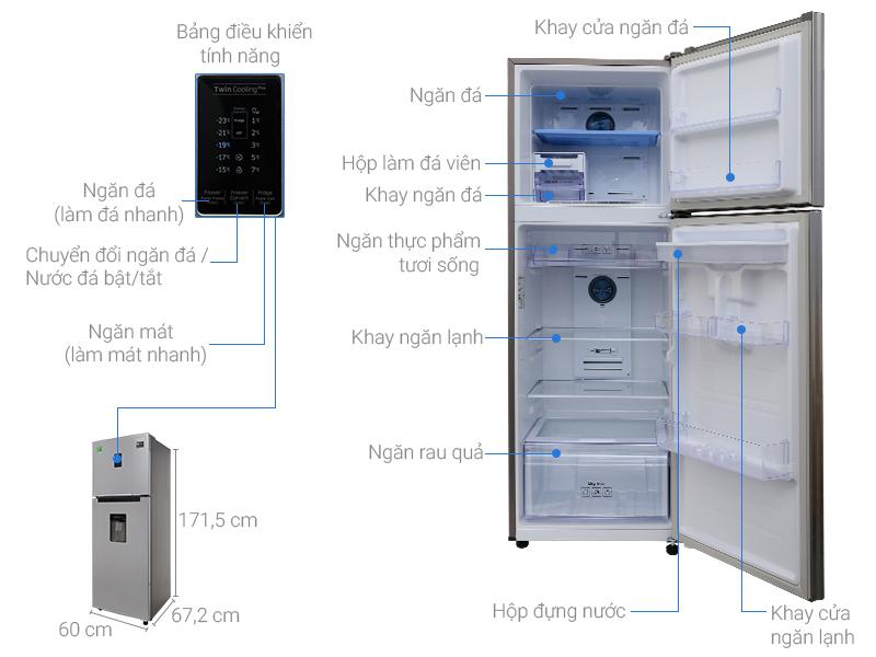 Thông số kỹ thuật Tủ lạnh Samsung Inverter 319 lít RT32K5932S8/SV