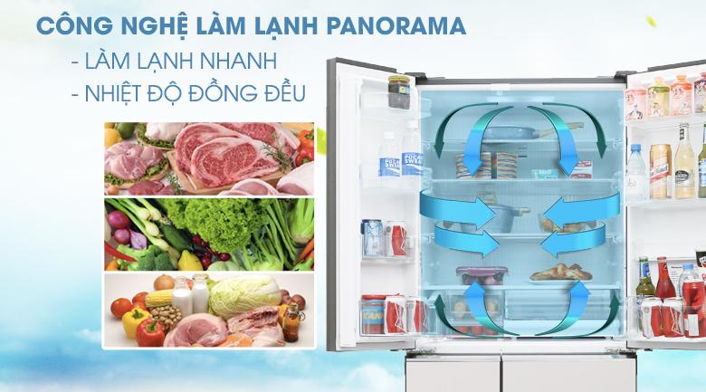 Công nghệ Panorama - Tủ lạnh Panasonic Inverter 589 lít NR-F603GT-X2