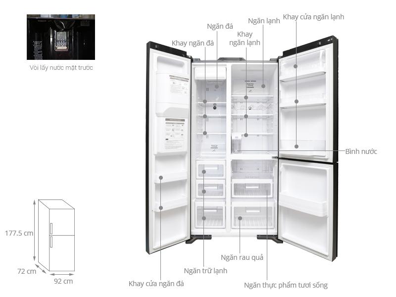 Thông số kỹ thuật Tủ lạnh Hitachi 584 lít R-M700AGPGV4X DIA