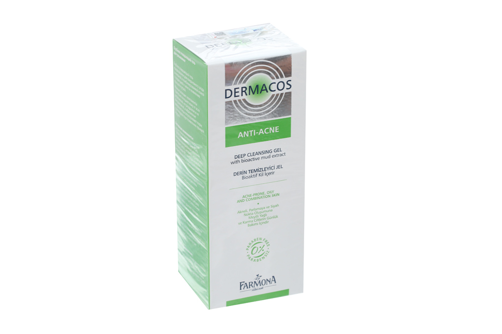 Sữa rửa mặt trị mụn Dermacos Anti - Acne deep cleasing gel