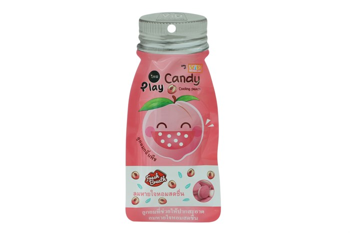 Kẹo ngậm Play Candy Thái Lan vị Đào 12g
