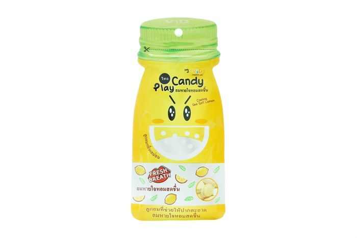 Kẹo ngậm Play Candy Thái Lan vị Chanh muối 12g