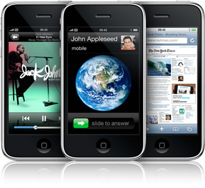 giao diện của iPhone 3GS