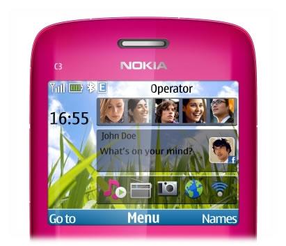 Nokia C3-00 có màn hình thân thiện
