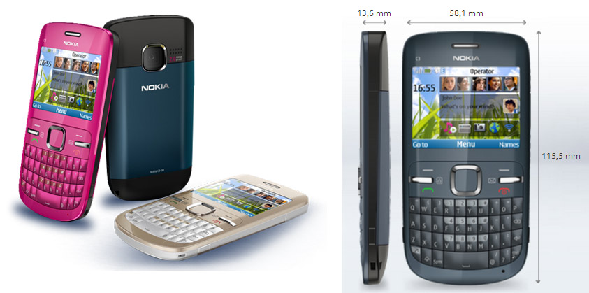 Nokia C3-00 có thiết kế thể hiện sự khẳng định