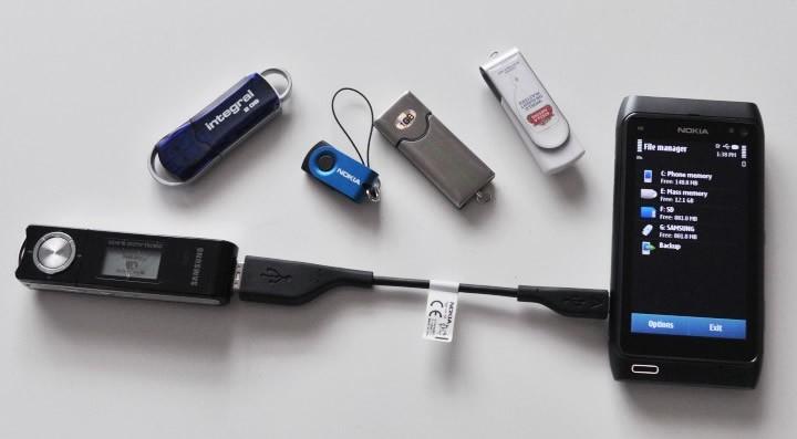 Kết nối Nokia N8 với USB