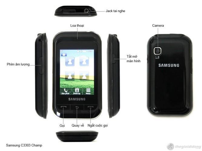 Các chức năng của Samsung Champ C3303