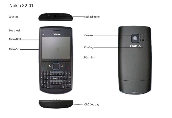 Các chức năng của Nokia X2-01