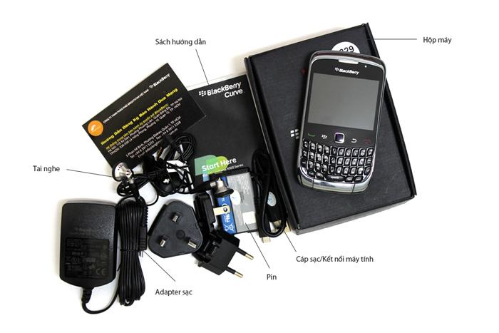 Phụ kiện đi kèm của BlackBerry Curve 9300