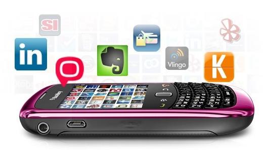 trải nghiệm BlackBerry Curve 9300  cùng kho ứng dụng phong phú