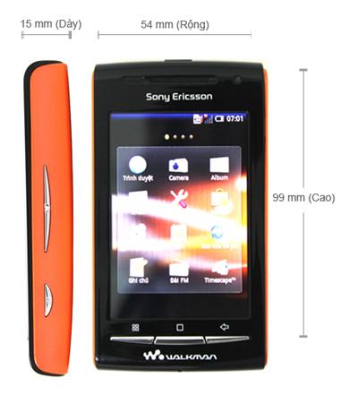 Kích thước của SonyEricsson W8