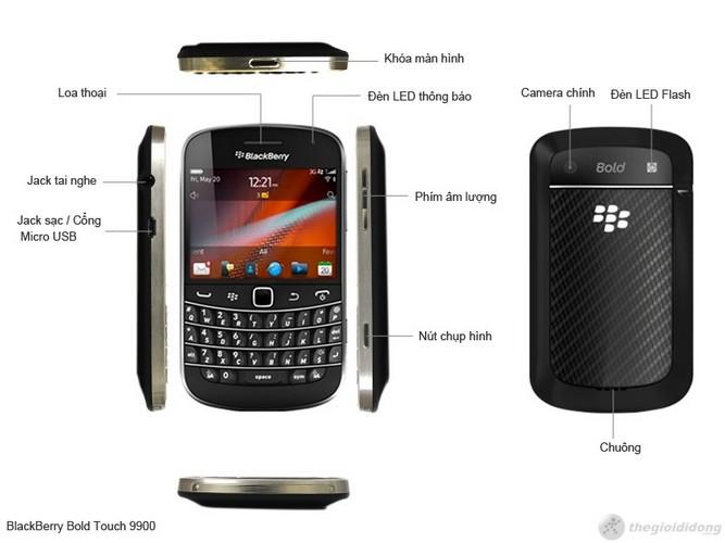 Phím chức năng Blackberry Bold Touch 9900
