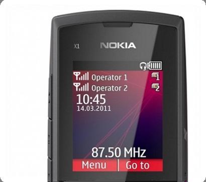 Nokia X1-01 hỗ trợ 2 sim 2 sóng