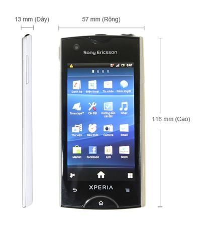 Thông số kĩ thuật của Sony Ericsson Xperia Ray