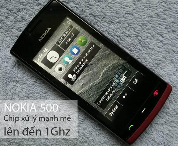 Nokia 500 - cpu 1 ghz