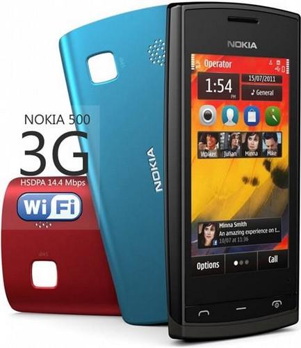 Nokia 500 - kết nối 3g