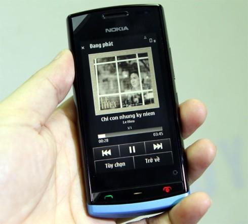 Nokia 500 - giao diện trỉnh nghe nhạc