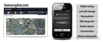 Chức năng Find my Mobile trên Galaxy Y
