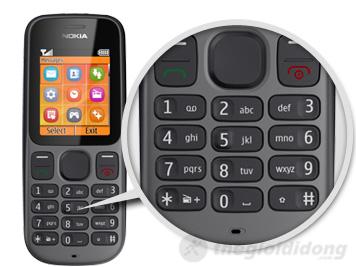 Bàn phím T9 truyền thống với các phím bấm mềm của Nokia 100