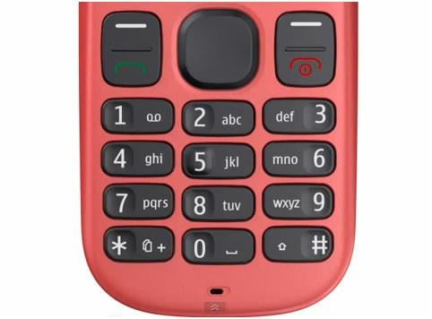 Bàn phím cao su mềm, thao tác nhanh hơn trên Nokia 101