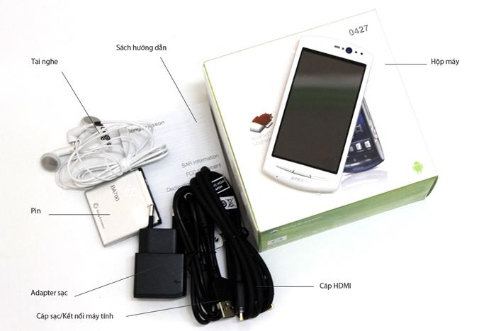 Bộ bán hàng chuẩn Sony Ericsson Xperia neo V
