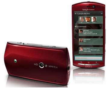 Xperia Neo V có camera HP