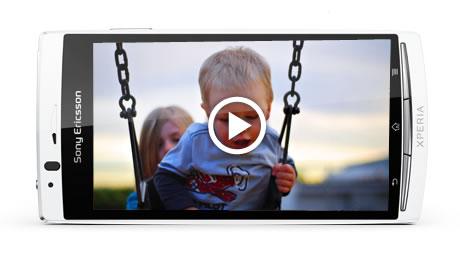 Hình ảnh video trên Xperia Arc S