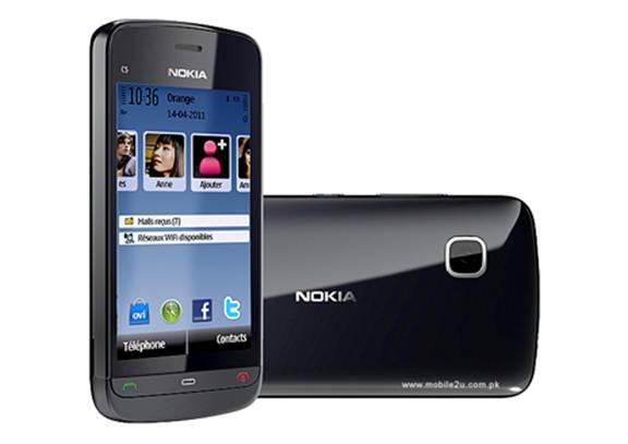 Nokia C5-06 hỗ trợ Camera 2.0 MP