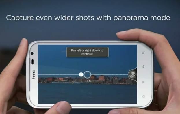 HTC Sensation XL - chụp hình panorama