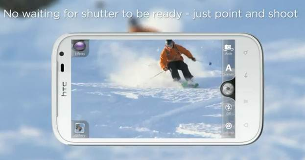HTC Sensation XL - tính năng vừa chụp hình vừa quay phim