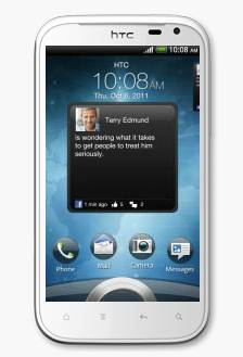 HTC Sensation XL - màn hình khóa