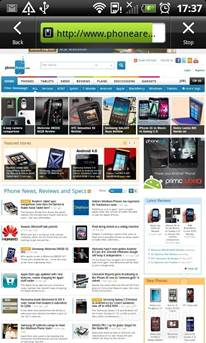HTC Sensation XL - lướt web
